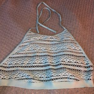 Victoria's Secret crochet bralette halter top L